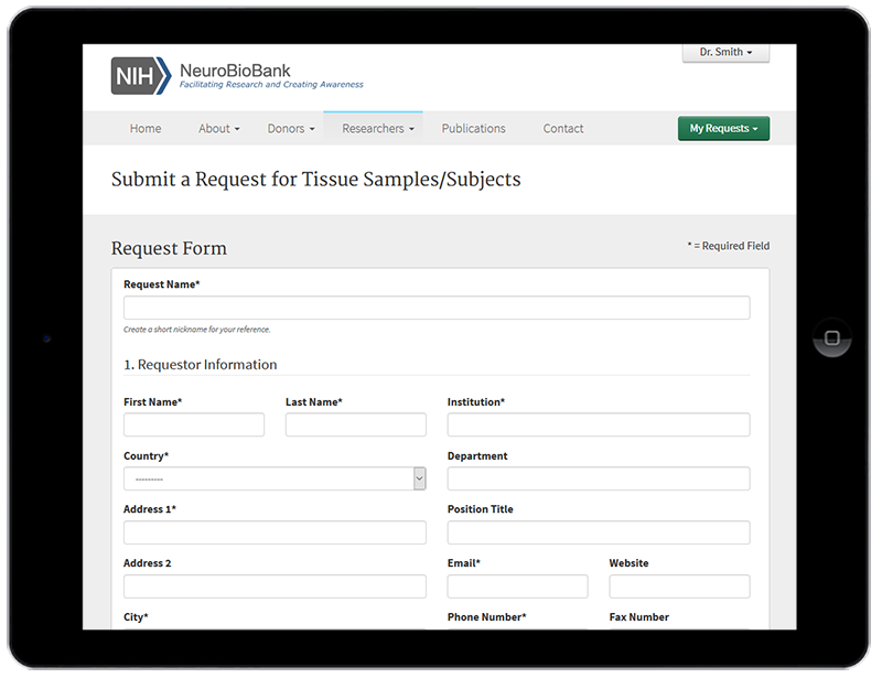 Flexible Request Forms